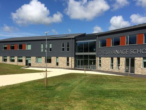 Client front of the swanage school
